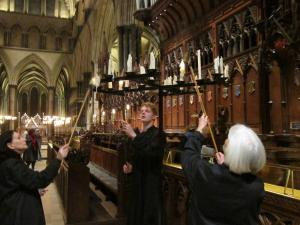 Salisbury Cathedral Advent service of light, by Ana Gobledale