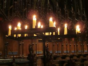 Salisbury Cathedral light to darkness service, -- by Ana Gobledale