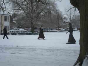 Salisbury in snow -- Ana Gobledale