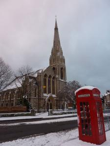 St Andrew's with post box -- photo by Ana Gobledale