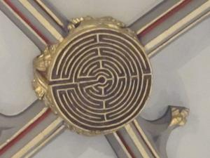 St Mary Redcliffe, Bristol UK, ceiling maze-- photo by Ana Gobledale