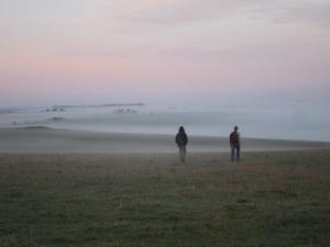 Stonehenge morning walk -- photo by Ana Gobledale