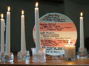 Transgender Day of Remembrance, Cairn Christian Church, Lafayette, Colorado USA