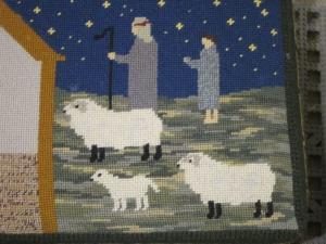 Wimborne Minster tapestry, UK - photo by Ana Gobledale