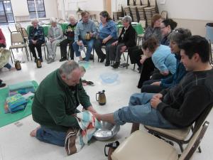 foot washing 3 - - Kirkland UCC, - Ben von Ullrich