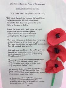 Remembrance Day poem 'For the Fallen' by Laurence Binyon