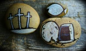 Stone art for Holy Week and Easter